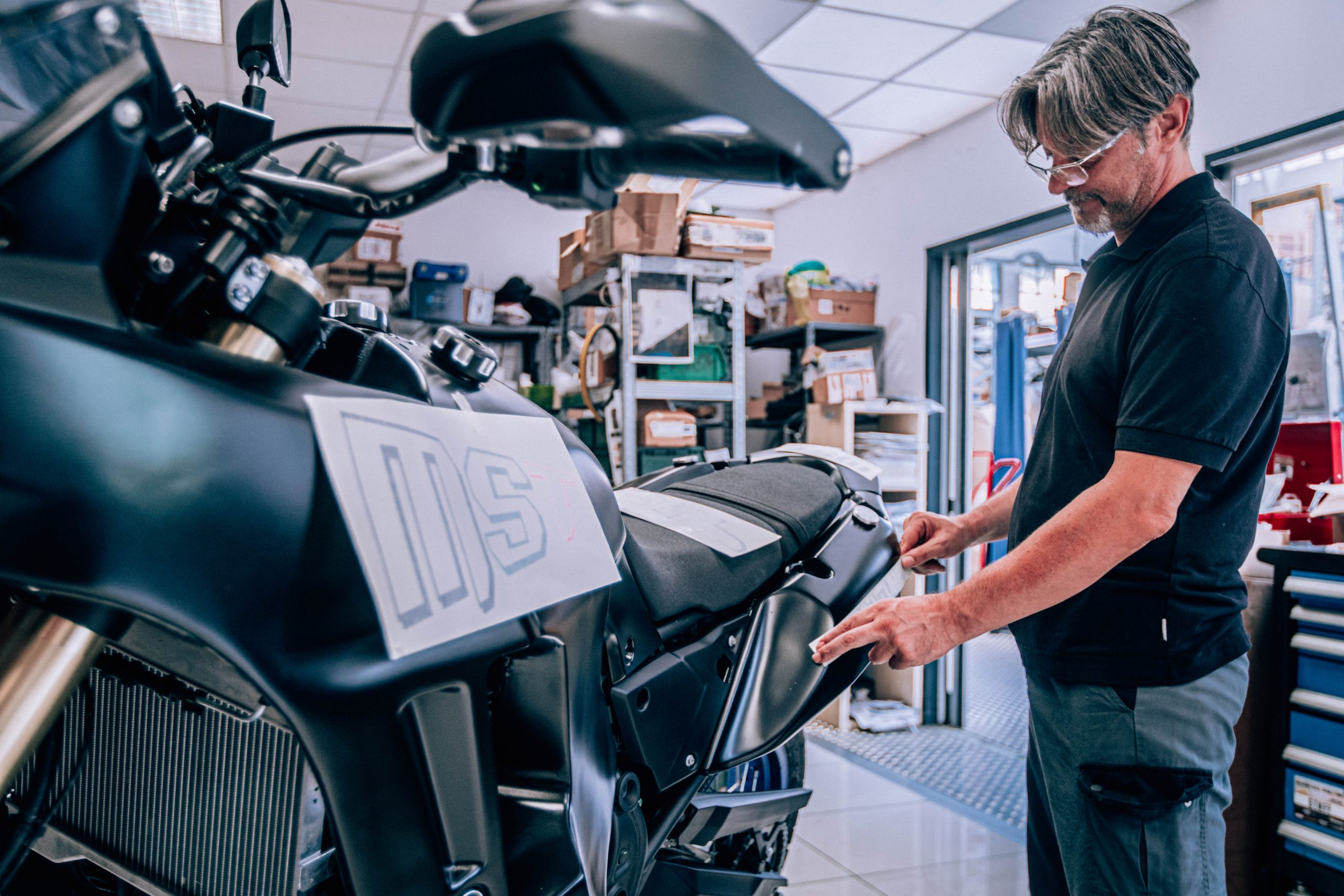 MST Rally motorcycle customization